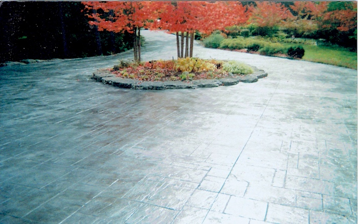 Beautiful driveway stamped pattern concrete